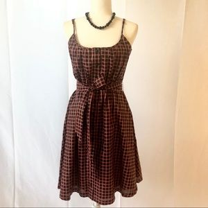 Super cute plaid dress!